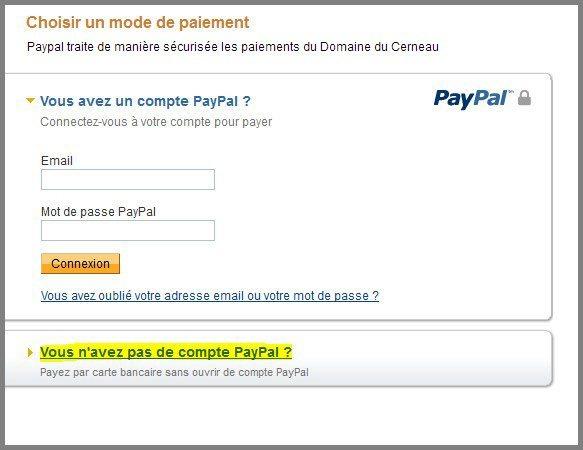 Exemple de paiement via Paypal